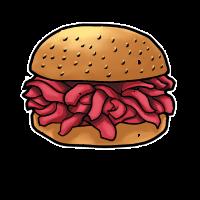 Burger Pulled Pork Smoken BBQ Geschenk Barbecue