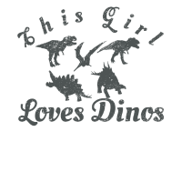 Mädchen liebt Dinosaurier