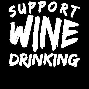Weintrinker trinken Wein