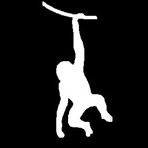 Weißer Affe im Urwald