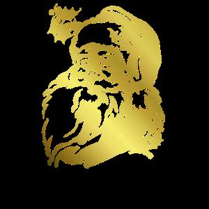 Santa gold Design Logo