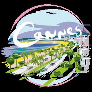 Stadt von Cannes durch Strob