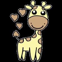 Giraffe Comic Cartoon Herz Geschenk