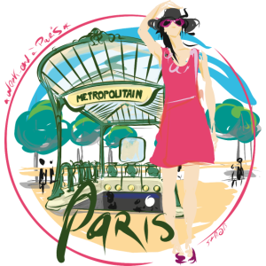 Paris durch Strob U-Bahn