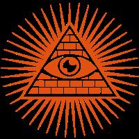Allsehendes Auge - Auge Gottes - c - Pyramide - Trinität -  Symbol für Licht und Erkenntnis I