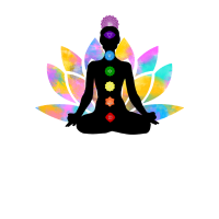 7 Chakren Lotus-Sitz Wasserfarben