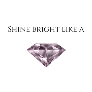 diamant diamond shine girls rosa white