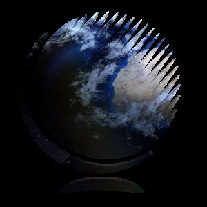 Doppelbelichtung Welt Weltkugel