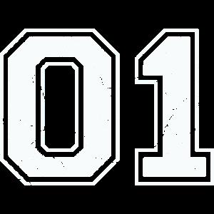 01 in weiß im Vintage-Look