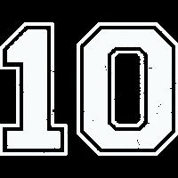 10 in weiß im Vintage-Look