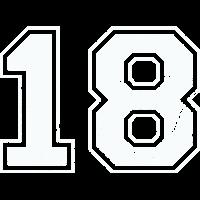 18 in weiß im Vintage-Look