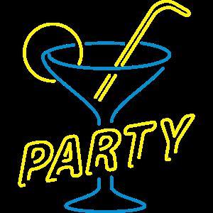 Bachelorette Party Cocktail Glas Zitrone Strohhalm