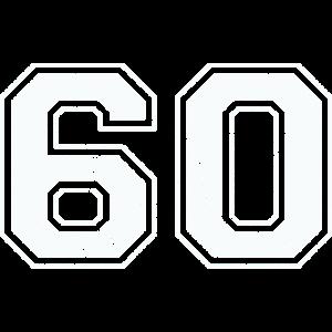 60 in weiß im Vintage-Look