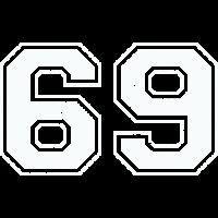 69 in weiß im Vintage-Look