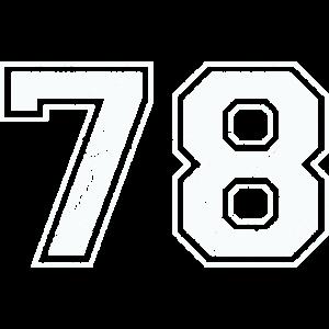 78 in weiß im Vintage-Look