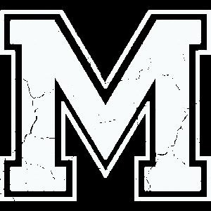 Buchstabe M in weiß im Vintage-Look