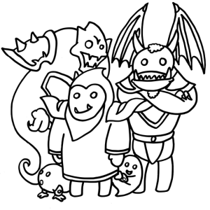 Hexenmeister und Dämonenfreunde Motiv Gamer Stream
