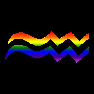 Wassermann LGBT Sternzeichen CSD Schwul Lesbisch