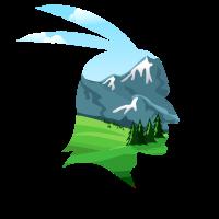 Indianer Kopf Naturverbunden Berg Landschaft