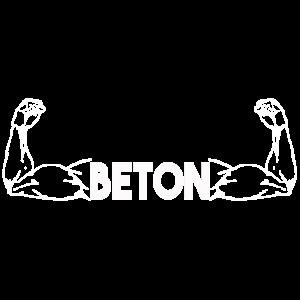 Beton Muskeln - Fitnes Shirt, Workout, Geschenk