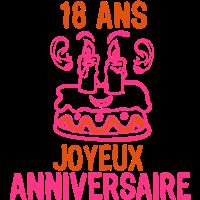 18 Kuchen Kerze Geburtstagsfest