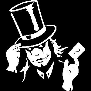 Zauberer Joker Poker Teufel Spieler Tee T-Shirt