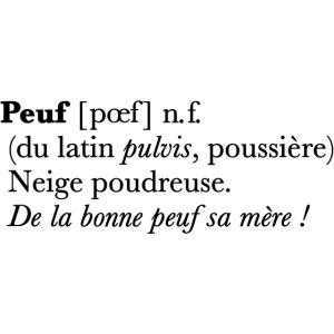 Peuf definition - black