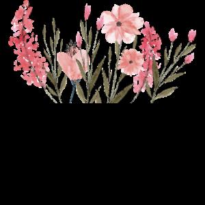 Brusttasche Blumen Geschenk Idee