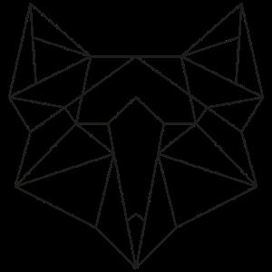 Minimalistisch Tierkopf Line-Art Fuchs