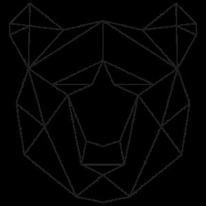 Minimalistisch Tierkopf Line-Art Bär