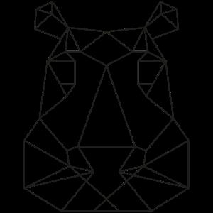 Minimalistisch Tierkopf Line-Art Nilpferd