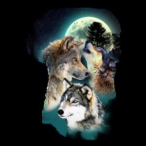 Wolf Design Mond Wölfe