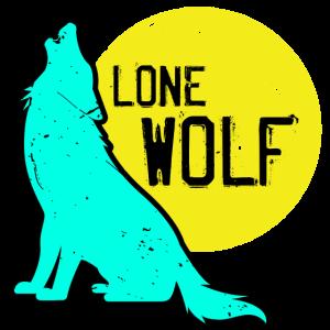 Wolf einsam Rudel Tier Hund Mond heulen wild Idee