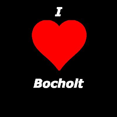 I Love Bocholt - I love Bocholt Schriftzug und einem roten Herzen. Eine schöne Geschenkidee für alle die Ihre Stadt lieben. - I love Bocholt,Bocholt,BOH,West Münsterland,Love,Geschenk,NRW,Münsterland