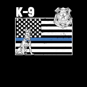 Vintage dünne blaue Linie Familie der Polizei-K 9