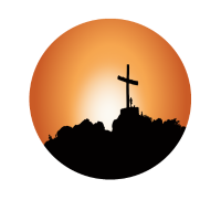 Kreuz Landschaft Berge Bild Illustration