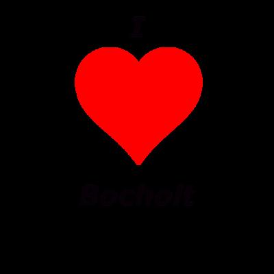 I Love Bocholt - I love Bocholt Schriftzug und einem roten Herzen. Eine schöne Geschenkidee für alle die Ihre Stadt lieben. - I love Bocholt,Bocholt,Liebe,BOH,Stadt,Herz,Love,I Love BOH,NRW,Münsterland