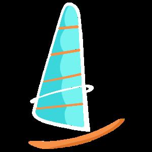 Lustiges Windsurfen-Hemd