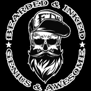 Bearded & Awesome - NCD-Shirts.de
