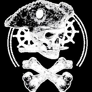 Pirat Knochen Schädel Totenkopf