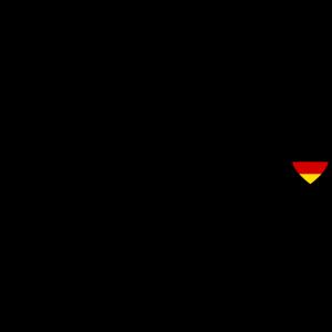 Deutschland Flagge Herz Herzschlag Heartbeat