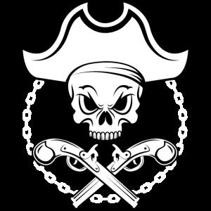 Totenschädel Pirat | Weiß | Geschenkidee