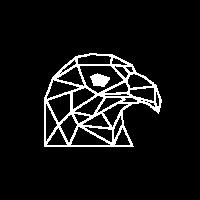 Adler in geometrischen Formen