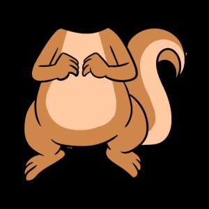 Kein Kopf mein Kopf ist Eichhörnchenkopf