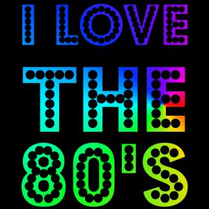 Ich liebe die 80er Jahre süß und lustig 80er Jahre Happy Love Geschenk Idee Design