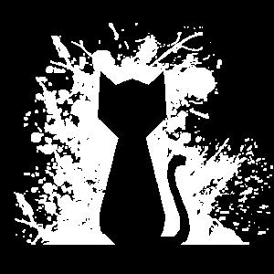 Freche Katze Silhouette