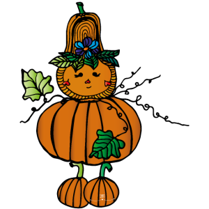 "Kürbismännchen- ""Happy Halloween"""