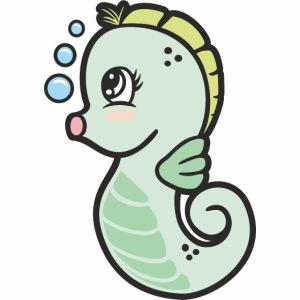 Seepferdchen grün