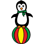 Pinguin auf einem Ball