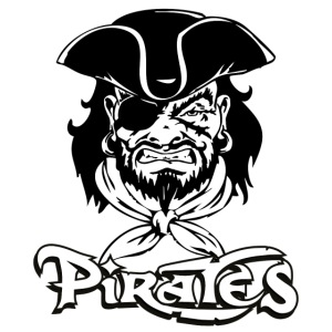 logo pirates bianco e nero